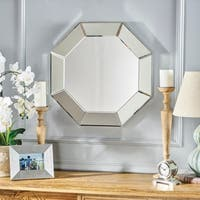 Coralynn Hexagonal Wall Mirror by Christopher Knight Home - Clear