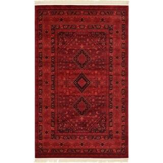 Bokhara Red  Border Runner Rug (2'7 x 10')