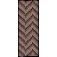 Unique Loom Chevron Outdoor Runner Rug - 2' 2 x 6'
