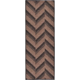 Unique Loom Chevron Outdoor Runner Rug - 2' 2 x 6'