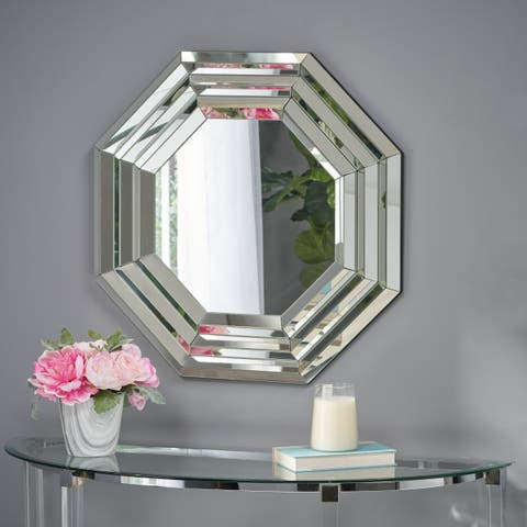 Ornora Octagonal Accent Mirror by Christopher Knight Home - Clear