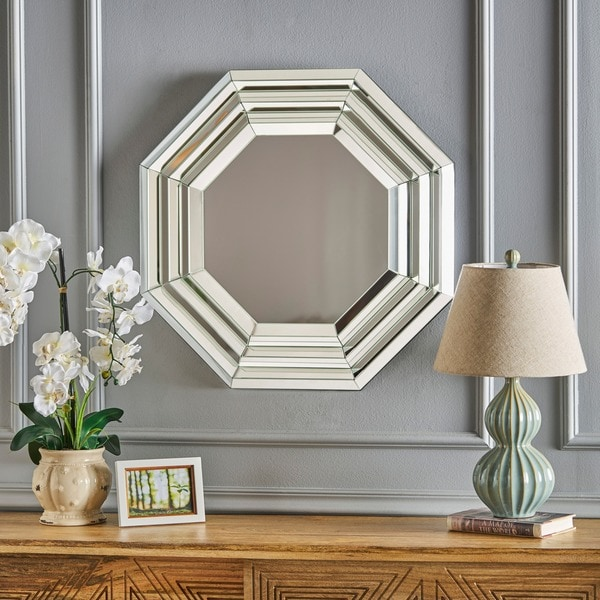 Ornora Hexagonal Wall Mirror by Christopher Knight Home - Clear - N/A