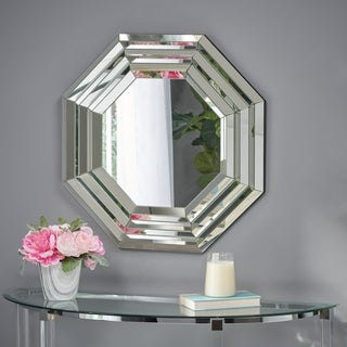 Ornora Hexagonal Wall Mirror by Christopher Knight Home - Clear