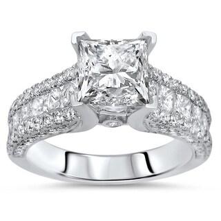 Noori 14k Gold 2 2/5ct TDW Enhanced Princess Cut Diamond Engagement Ring