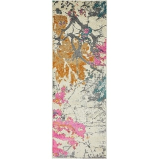 Stockholm Beige/Orange Floral Runner Rug (2'2 x 6')