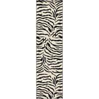 Unique Loom Zebra Wildlife Runner Rug - 2' 7 x 10'