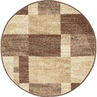 Unique Loom Autumn Providence Round Rug - 3' 3 x 3' 3