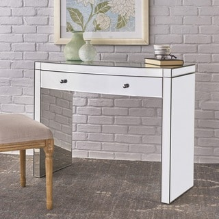 Navaeh Mirrored Curved Console Table by Christopher Knight Home - Silver