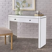 Navaeh Mirrored Curved Console Table by Christopher Knight Home