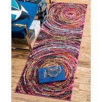 Unique Loom Aragon Estrella Runner Rug - multi - 2' 2 x 6' 7