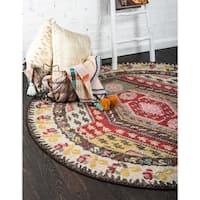 Unique Loom Carlsbad Sedona Round Rug - 3' 3 x 3' 3