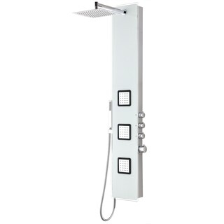 Leopard 3-Jetted Full Body Shower Panel with Heavy Rain Shower - White