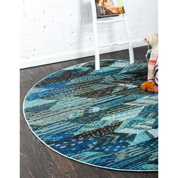 Unique Loom Rainier Sedona Round Rug - 3' 3 x 3' 3