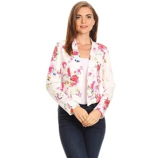 Women's Floral Pattern Blazer Style Jacket