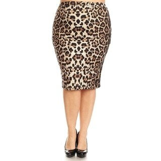 Women's Plus Size Leopard Print Pencil Skirt