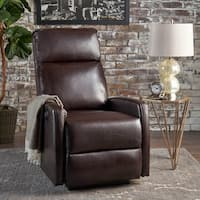 Sofie Tufted PU Leather Power Recliner by Christopher Knight Home