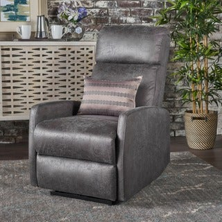 Sofie Tufted Microfiber Power Recliner by Christopher Knight Home