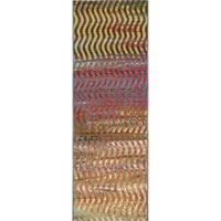 Unique Loom Wavy Eden Outdoor Runner Rug - 2' 0 x 6' 0