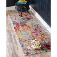 Unique Loom Seashore Positano Runner Rug - Multi - 2' 2 X 6' 7 Runner