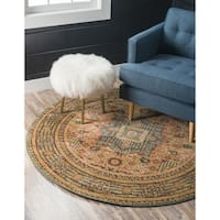 Unique Loom Jackson Palace Round Rug - 3' 3 x 3' 3
