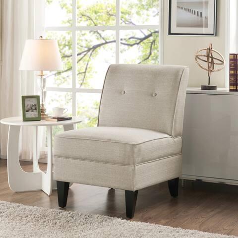 Handy Living Courtney Oatmeal Linen Armless Chair