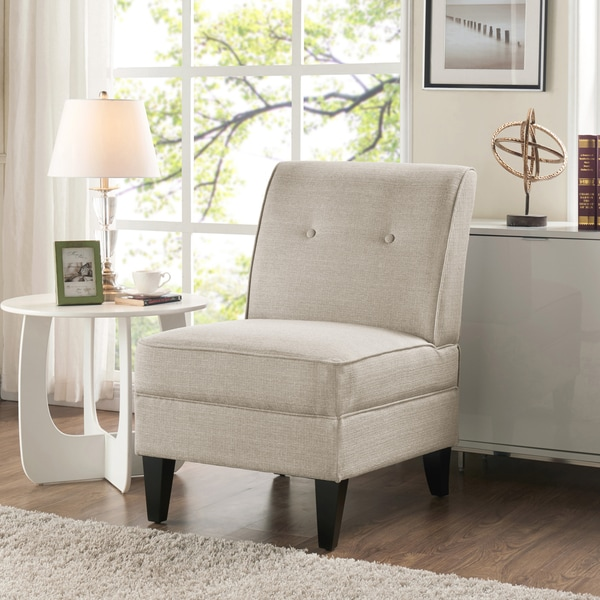 Armless Chairs For Living Room. Handy Living Courtney Oatmeal Linen Armless Chair  Free Shipping
