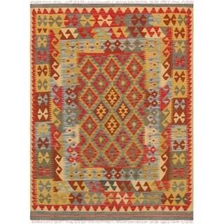 "Pasargad Anatolian Kilim Collection Hand-Woven Wool Rug (4'11"" X 6' 8"")"