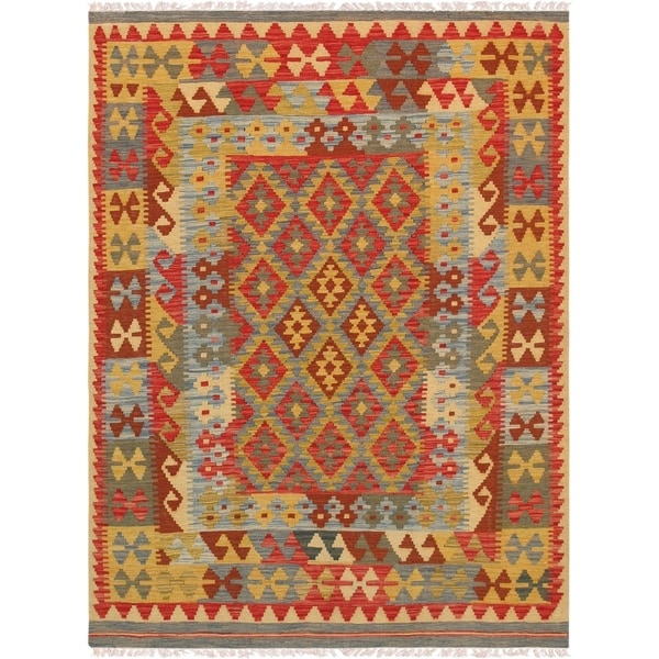 "Pasargad Anatolian Kilim Collection Hand-Woven Wool Rug (4'11"" X 6' 8"")"