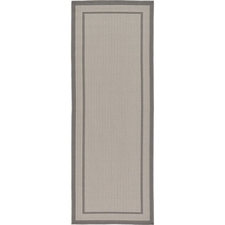Unique Loom Outdoor Border Area Rug (Grey - 22 x 6 Runner)