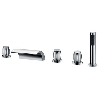 Della 3-Handle Deck-Mount Roman Tub Faucet in Polished Chrome
