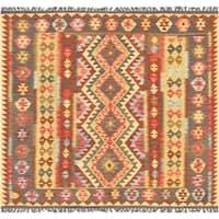 "Kilim Anatolian Collection Hand-Woven Lamb's Wool Area Rug (6' 3"" X 6' 8"") - multi"