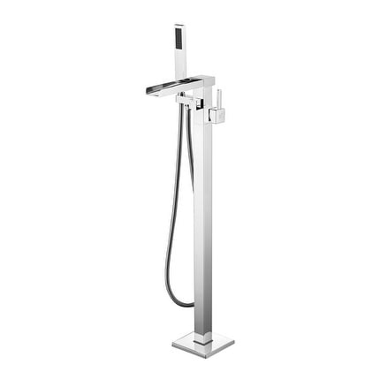 Union 2 Handle Clawfoot Tub Faucet With Hand Shower In Polished Chrome