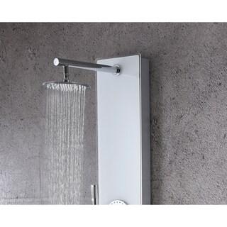 Lynn 3-Jetted Full Body Shower Panel with Heavy Rain Shower in White