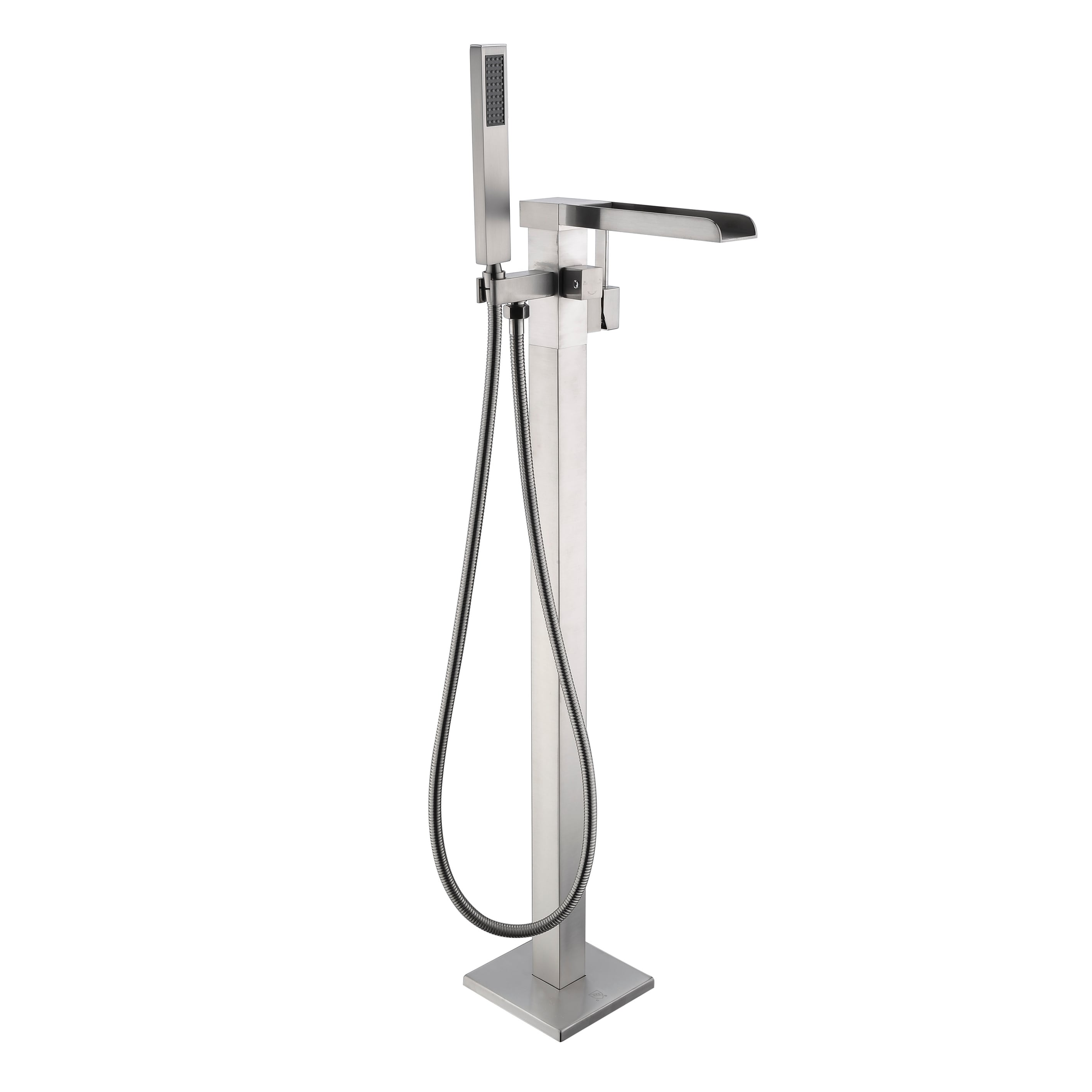 Union 2 Handle Clawfoot Tub Faucet With Hand Shower In Brushed Nickel