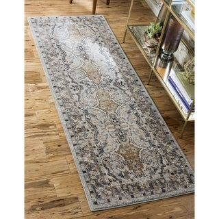 Tradition Brown/Cream Abstract Runner Rug (2'2 x 6')