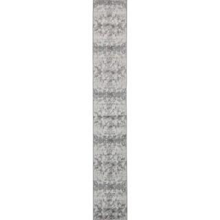 Metro Light Gray/Cream Abstract Runner Rug (2' x 13'