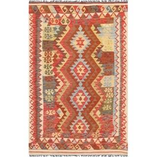 "Pasargad Anatolian Kilim Hand-Woven Wool Rug (4' 1"" X 6' 7"")"
