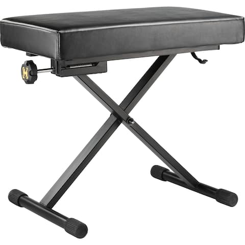 Hercules - KB-200B - Keyboard Bench w/EZ Height Adjustment and Micro Adjuster