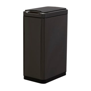 50L Split Open Sensor Stainless Steel Trash Bin
