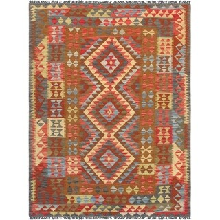 "Pasargad Anatolian Kilim Multi Hand-Woven Wool Area Rug (4' 8"" X 6' 4"")"