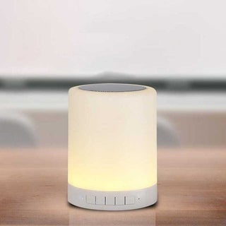 Colorful Night Light Table Lamp with Portable Bluetooth Stereo Intelligent Touch Control