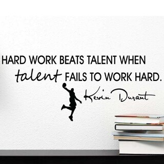 Hard Work - Kevin Durrant Quote Wall Vinyl