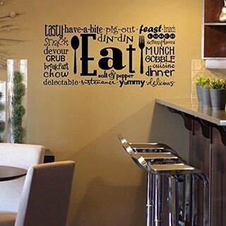 Eat Phrases Wall Vinyl