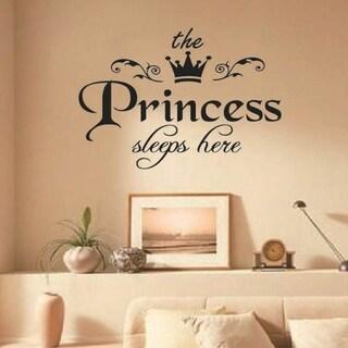 The Princess Sleeps Here Wall Vinyl