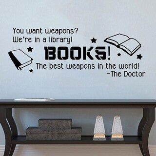 Inspired Books are Weapons Wall Vinyl