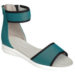 Women's Aerosoles Greatness Ankle Strap Sandal Bright Blue Mesh Fabric