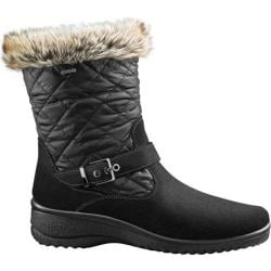 Women's ara May 48551 Snow Boot Black Suede/Faux Fur