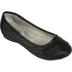Women's Cliffs by White Mountain Harlyn Perforated Flat Black Burnished Smooth Polyurethane