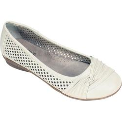 Women's Cliffs by White Mountain Harlyn Perforated Flat Cream Smooth Polyurethane