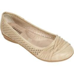 Women's Cliffs by White Mountain Harlyn Perforated Flat Stone Burnish Smooth Polyurethane